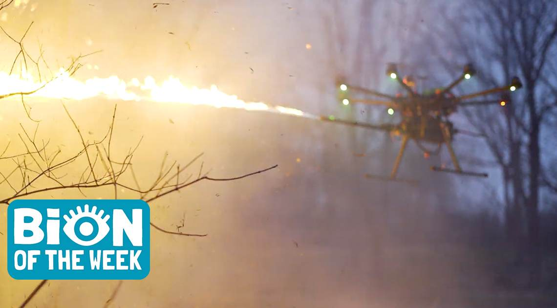 flamethrower drone