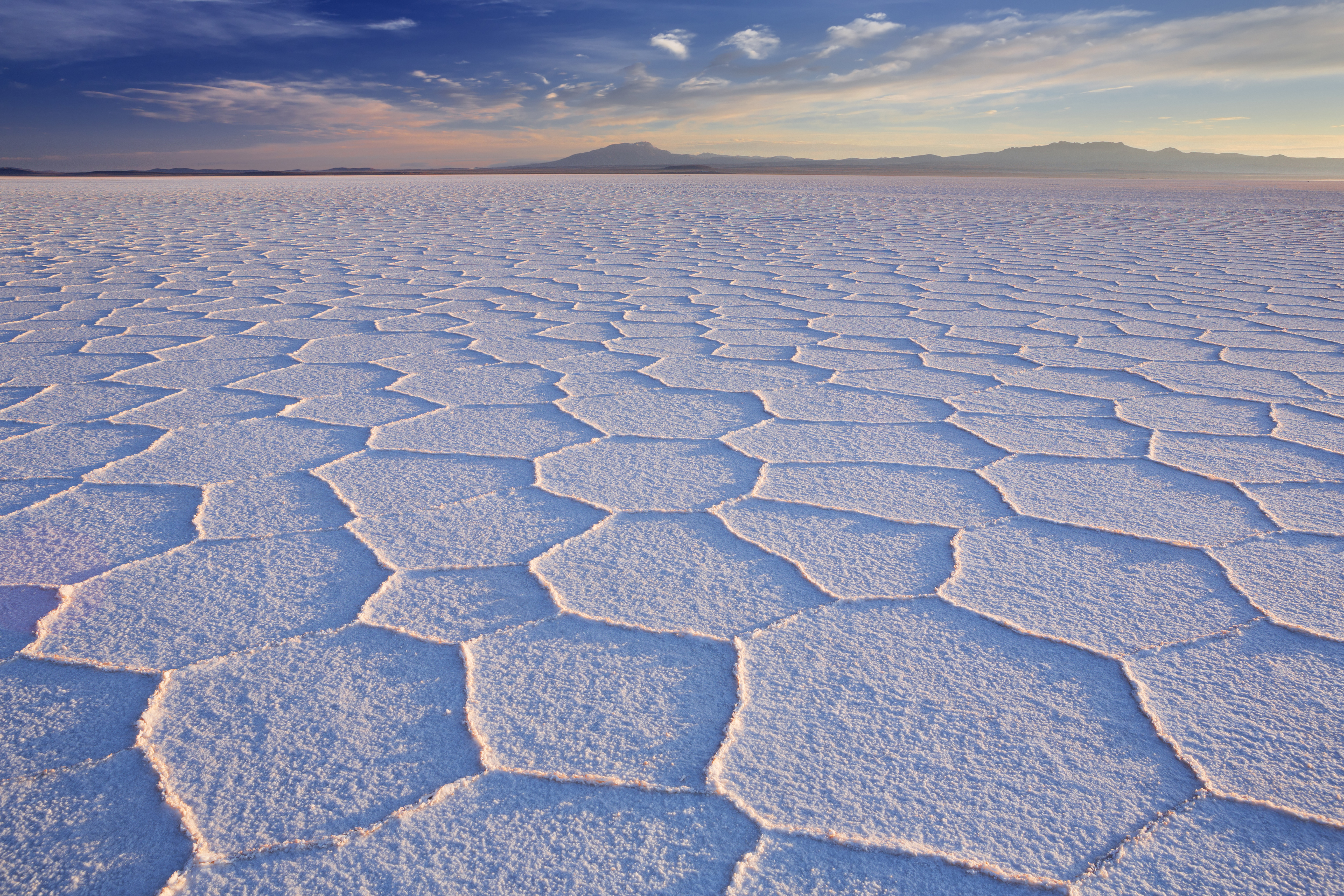 salt flat during dry season