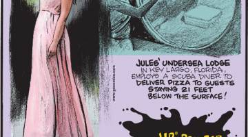 1. Jules' Undersea Lodge in Key Largo, Florida, employs a scuba diver to deliver pizza to guests staying 21 feet below the surface! 2. Jen Glantz created a business, bridesmaid for hire, where a bride-to-be can rent a professional bridesmaid for her wedding! 3. HP® printer black ink is more expensive than blood!