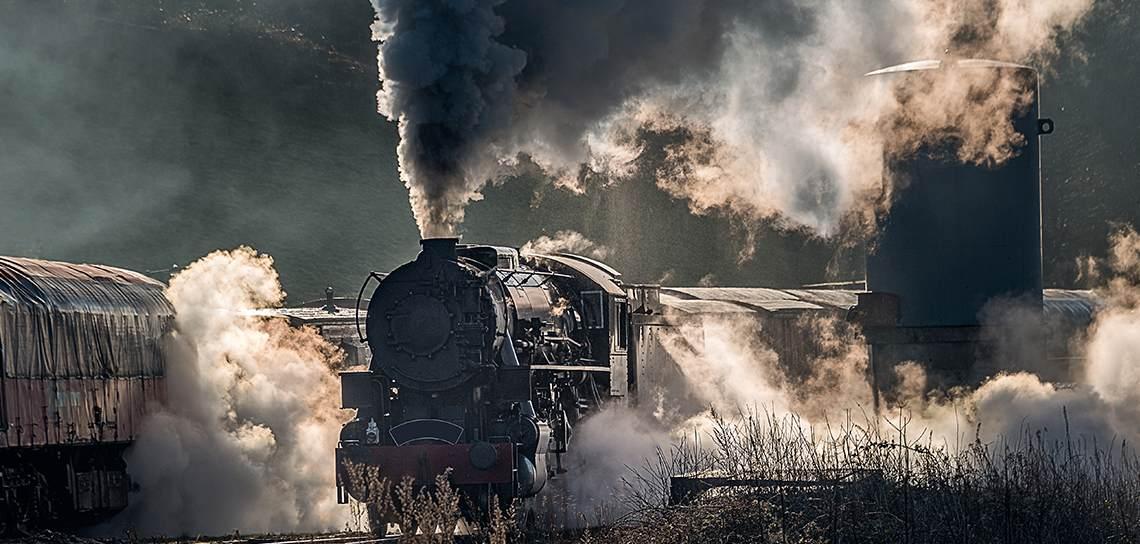 train crashing