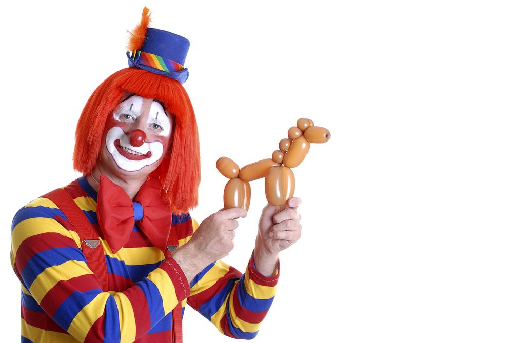 clown and balloon animal