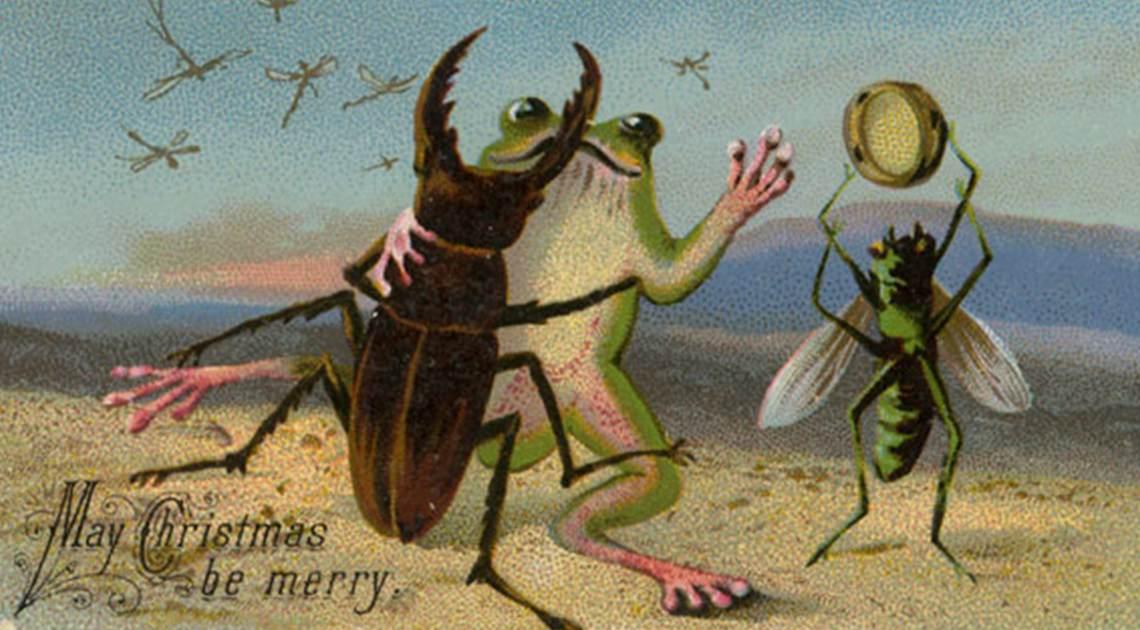 A creepy old Christmas card