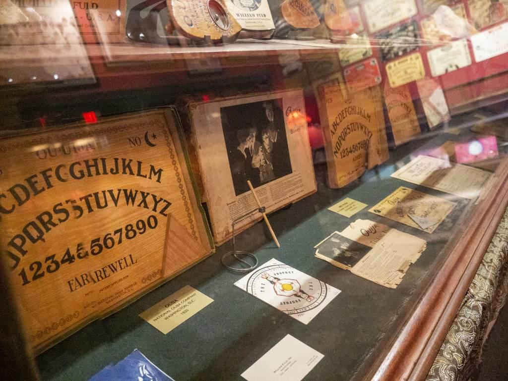 Oddities market Ouija board talking board