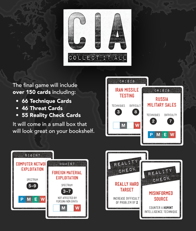 CIA: Collect It All card game