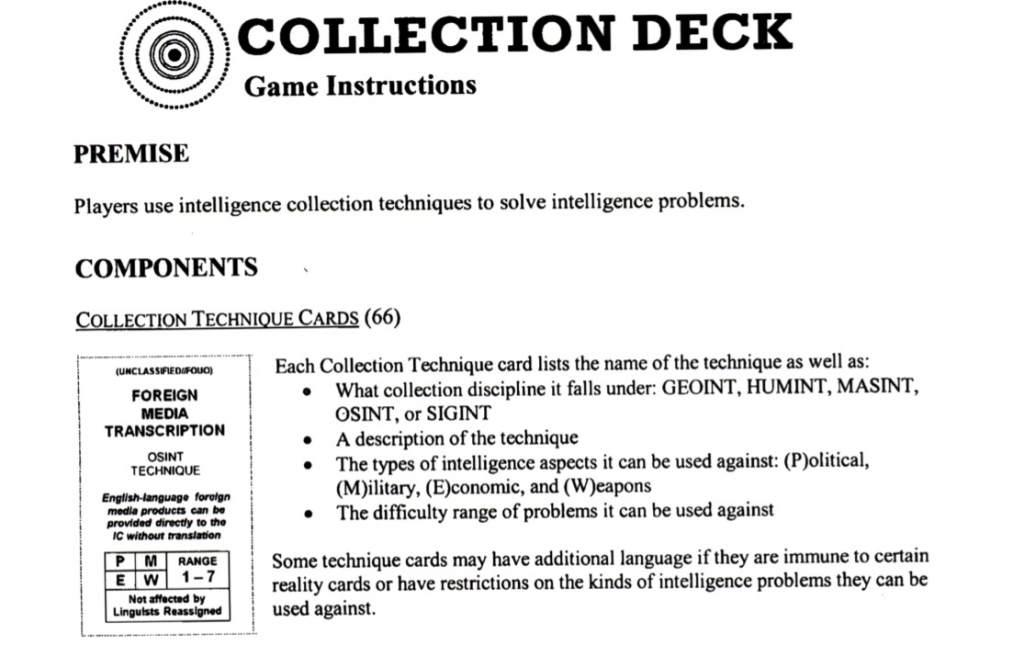CIA Card Game