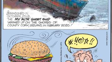 "1. Abandoned in October 2018, the MV ""Alta"" Ghost Ship washed up on the shores of County Cork, Ireland, in February 2020! 2. McDonald's® has released the Quarter Pounder Candle Pack, with six different scents that make up the components of their iconic burger - sesame seed bun, ketchup, pickles, cheese, onions and 100% fresh beef! 3. On the books since 1792, an antiquated law against cursing in public has recently been repealed by Virginia legislators!"