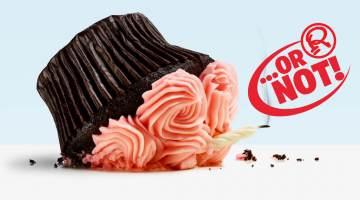 fallen cupcake