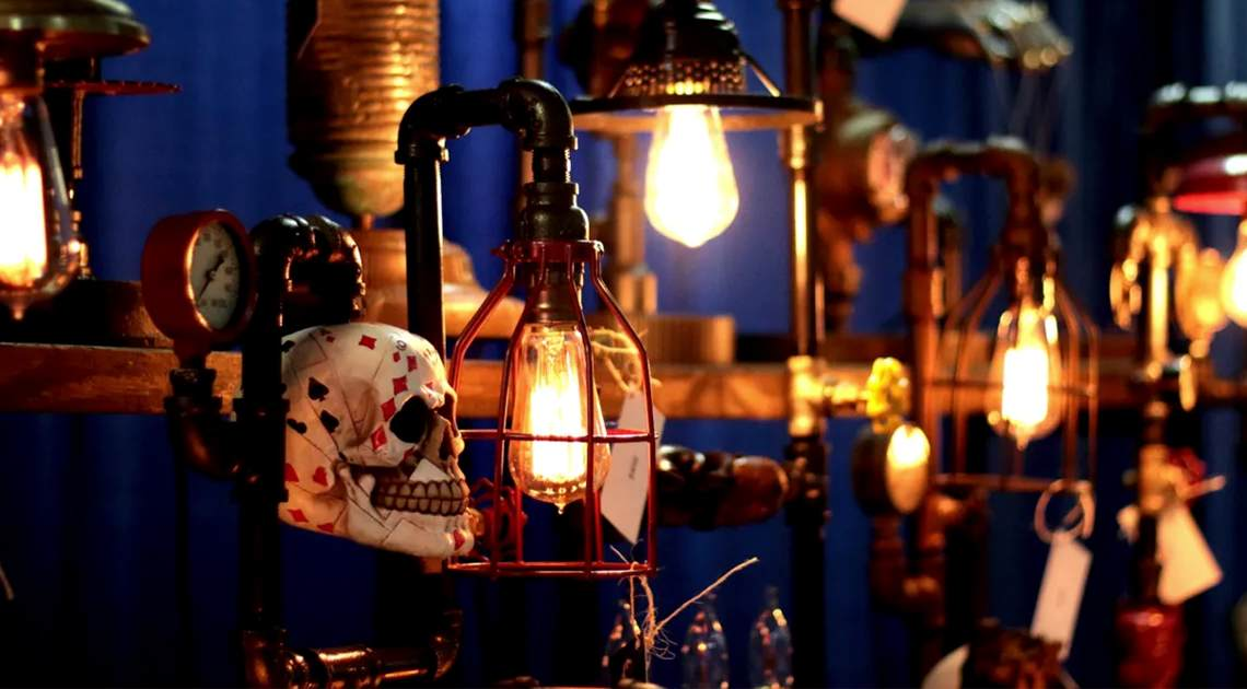 skulls and lanterns