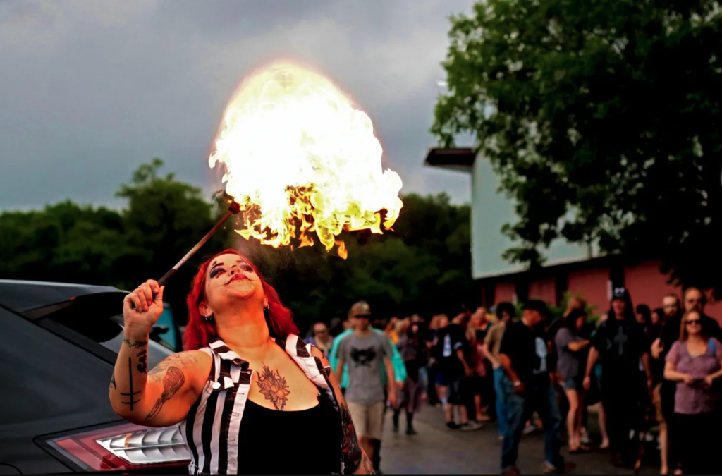 sideshow fire eater performer