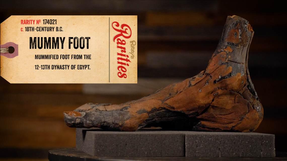 mummy foot