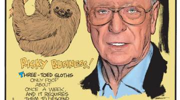 """1. Three-toed sloths only poop about once a week, and it requires them to descend to the ground, making them vulnerable to predators. 2. British actor Michael Caine's birth name is Maurice Micklewhite, and he didn't legally change it to his stage name until he was 83 years old - to avoid getting stopped by airport security! 3. The word """"overmorrow"""" is an obsolete term meaning """"the day after tomorrow."""""""