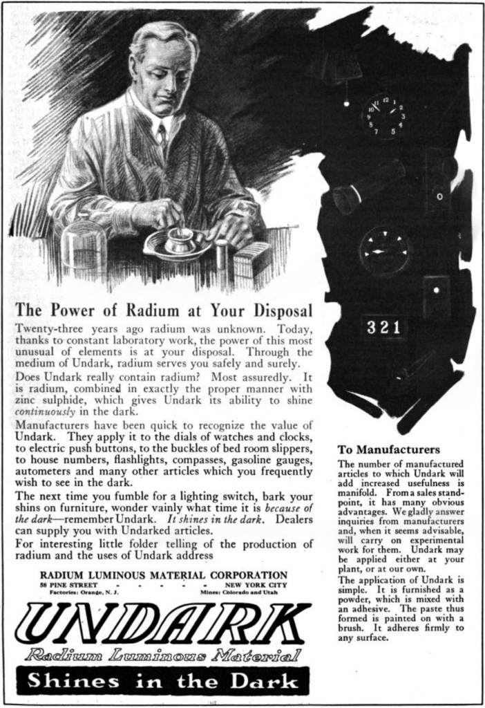 Radium Advertisement