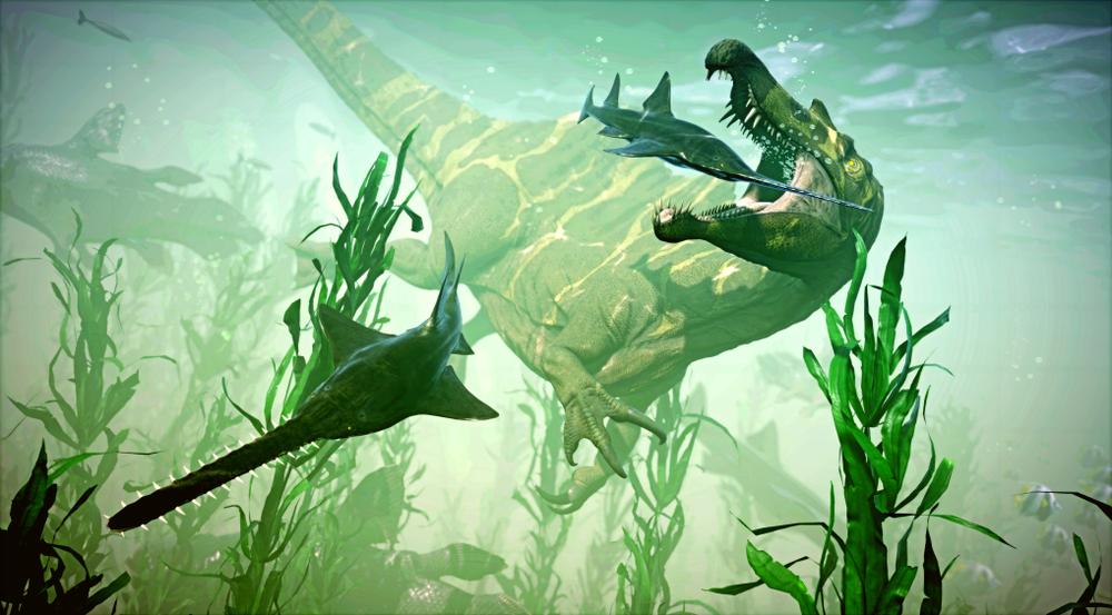 3d rendering spinosaurus