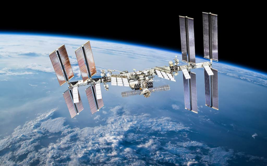 space station orbiting