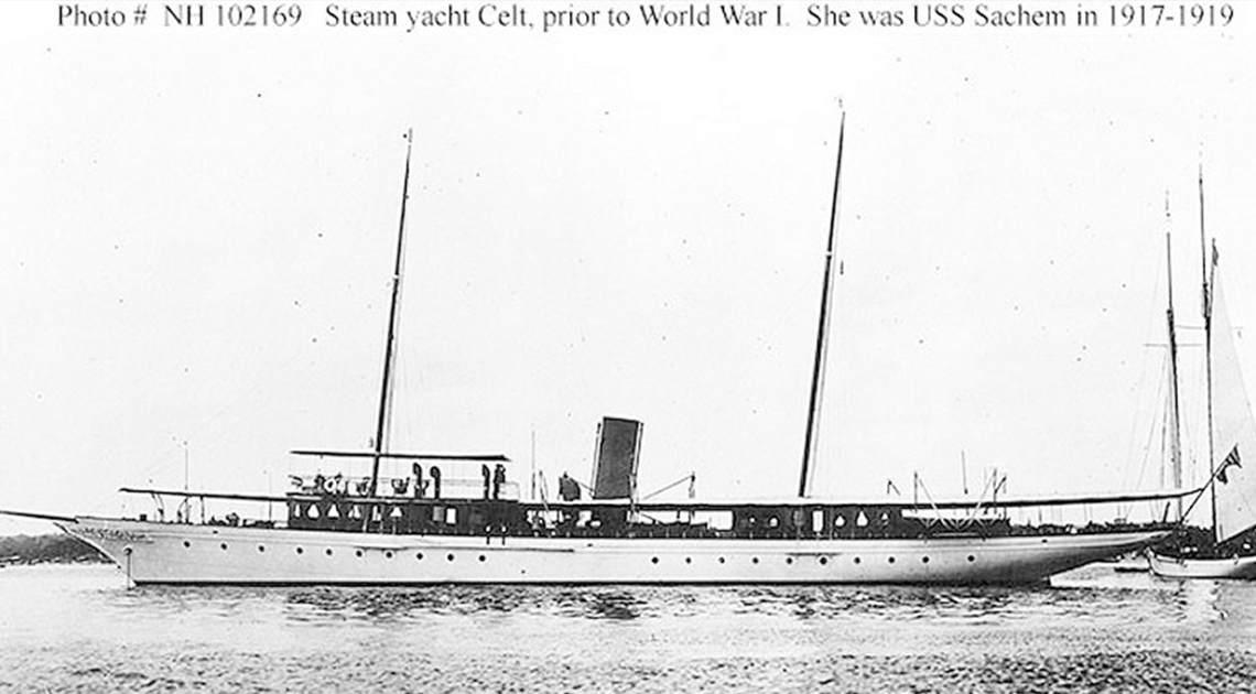 Yacht Celt prior to WWI, USS Sachem 1917-1919, USS Phenakite 1942-1945