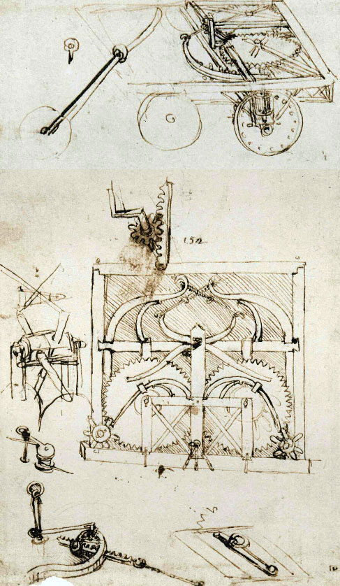 Leonardo Cart Drawing