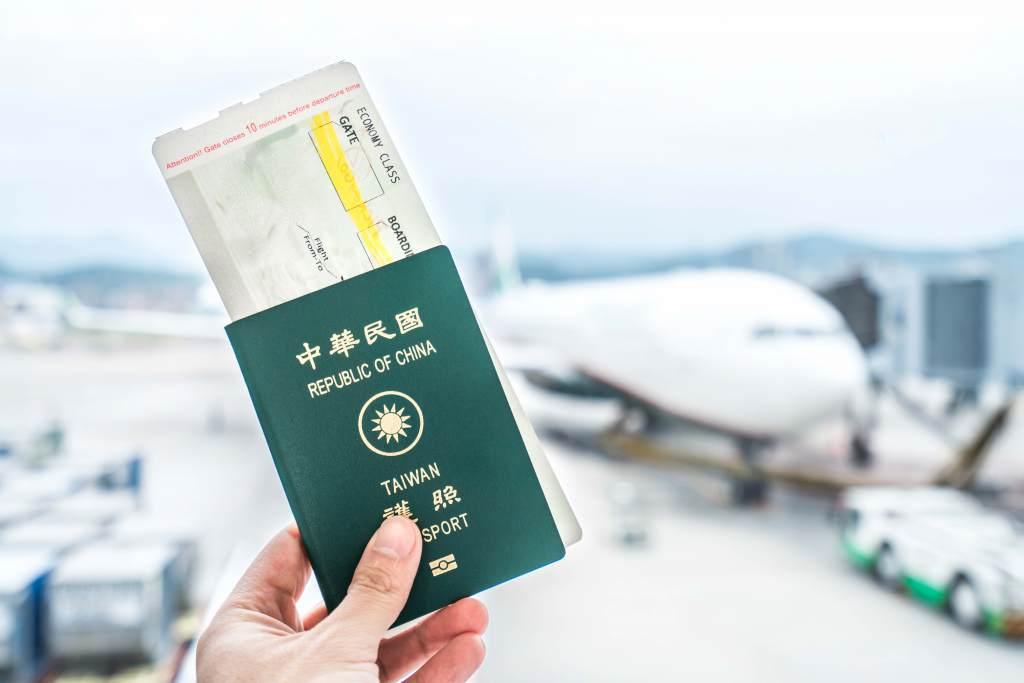Passport at Taipei International Airport