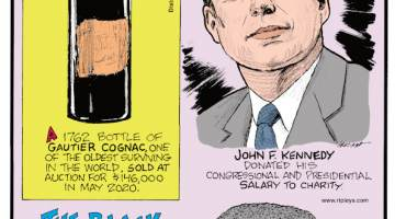 1. A 1762 bottle of Gautier Cognac, one of the oldest surviving in the world, sold at auction for $146,000 in May 2020. 2. John F. Kennedy donated his congressional and presidential salary to charity. 3. The black rain frog, Breviceps fuscus, is only found on the southern slopes of the Cape Fold Belt in South Africa, and it looks like a cranky old man!