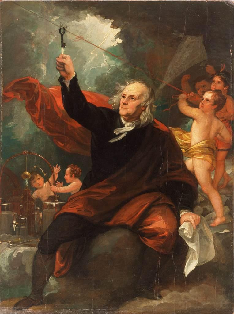 Ben Franklin Kite Art