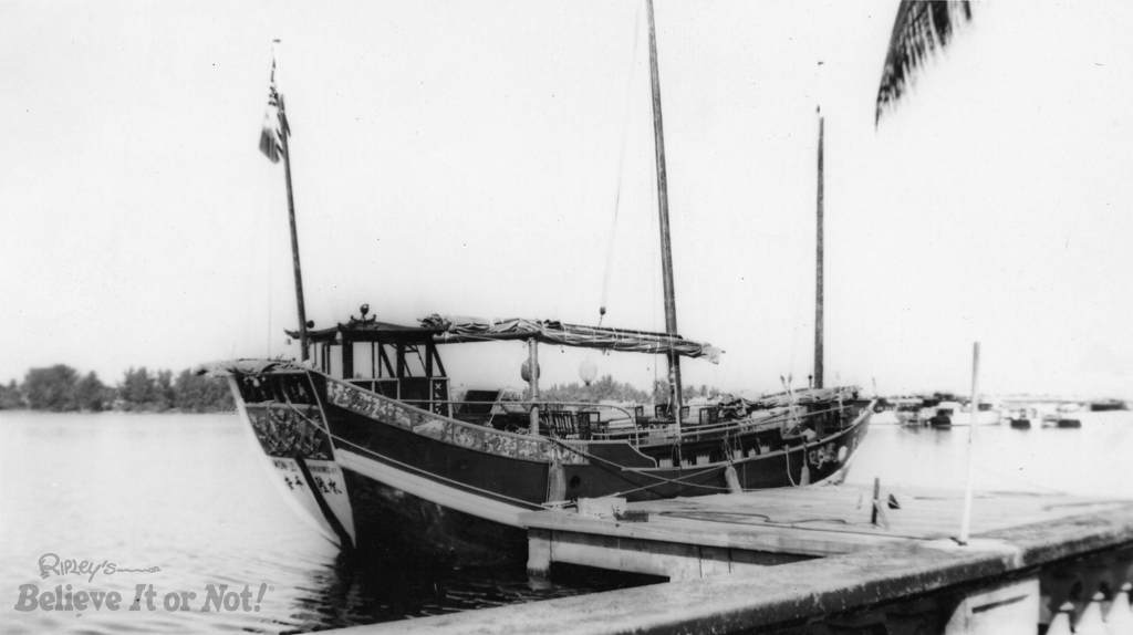 Ripley's Mon Lei docked in St. Augustine circa 1947