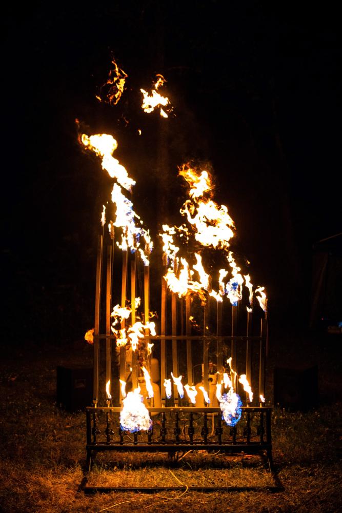 pyrophone fire organ