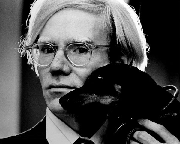 Andy Warhol and Dog