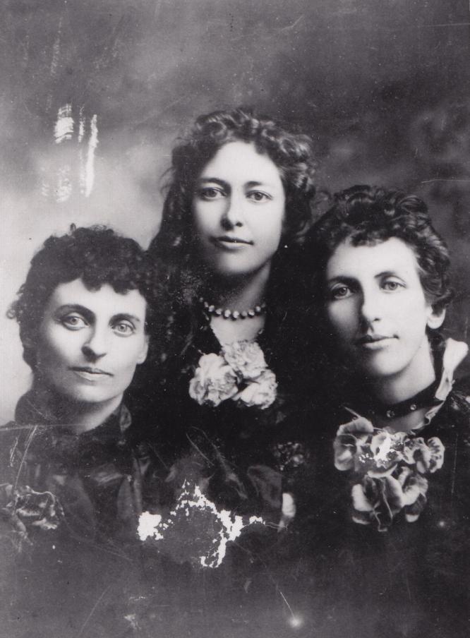 Three of the Cherry Sisters: Addie, Jessie, and Effie