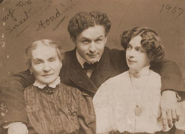 Houdini with wife and mother