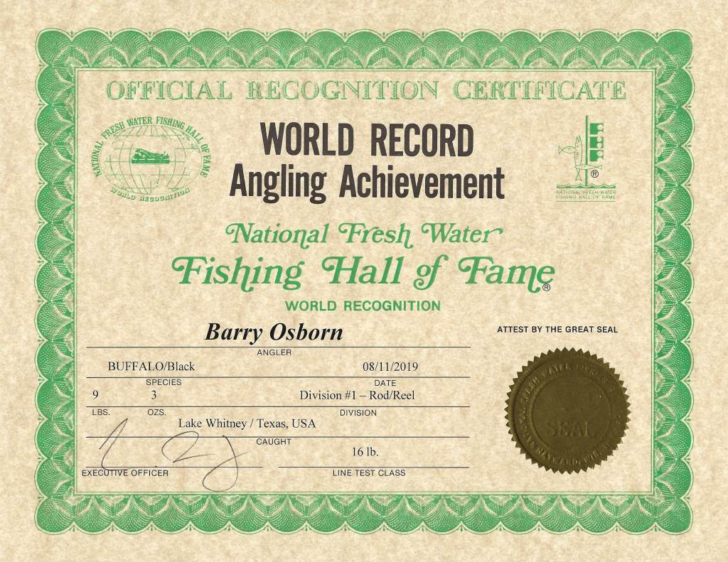 World Record Barry Osborne