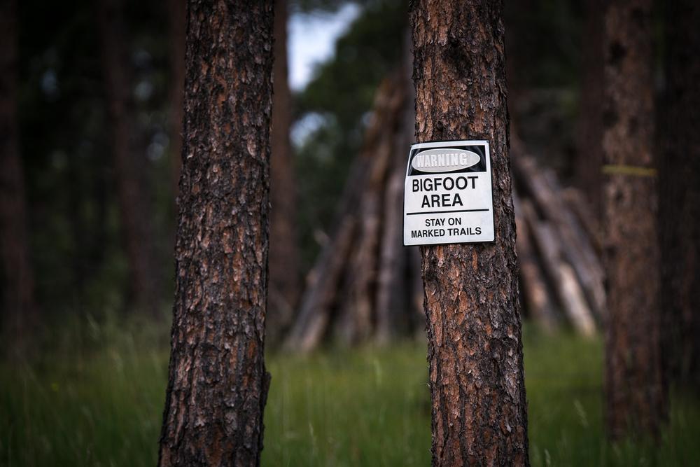 Warning Bigfoot Area