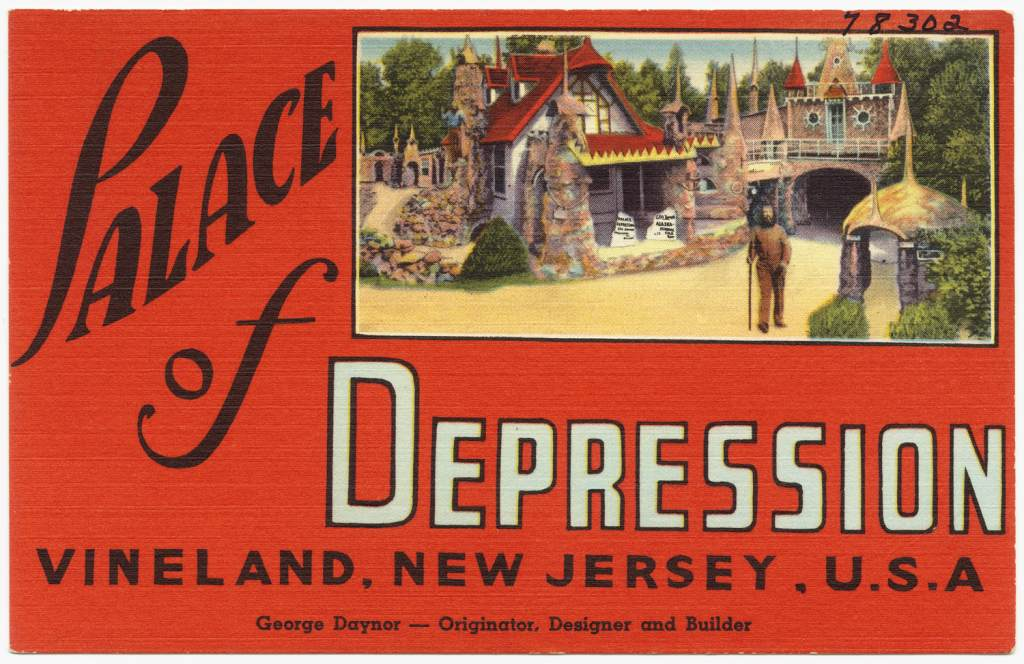 Palace of Depression Postcard