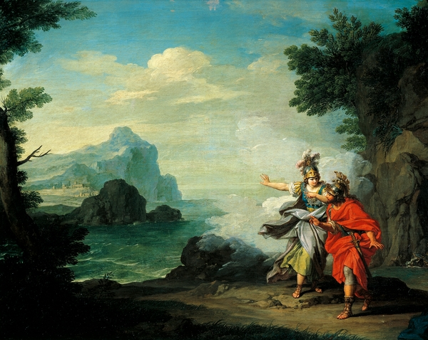 Athen and Ulysses in the Odyssey