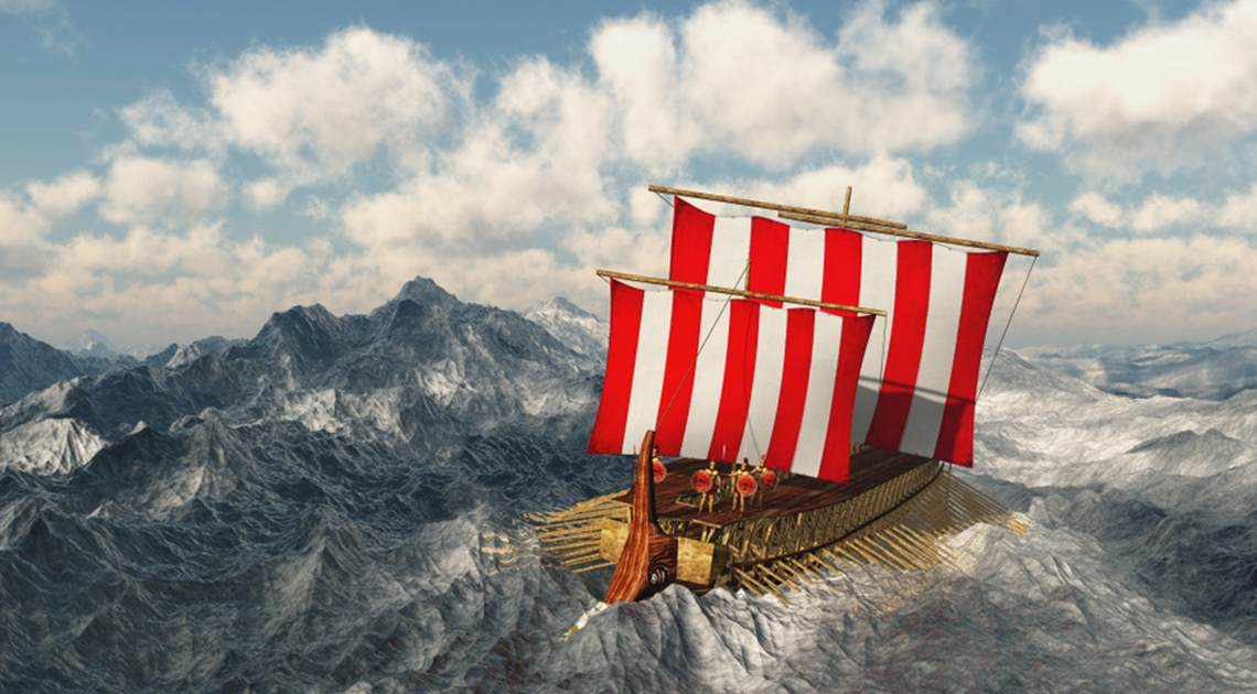 Odyssey Boat at Sea