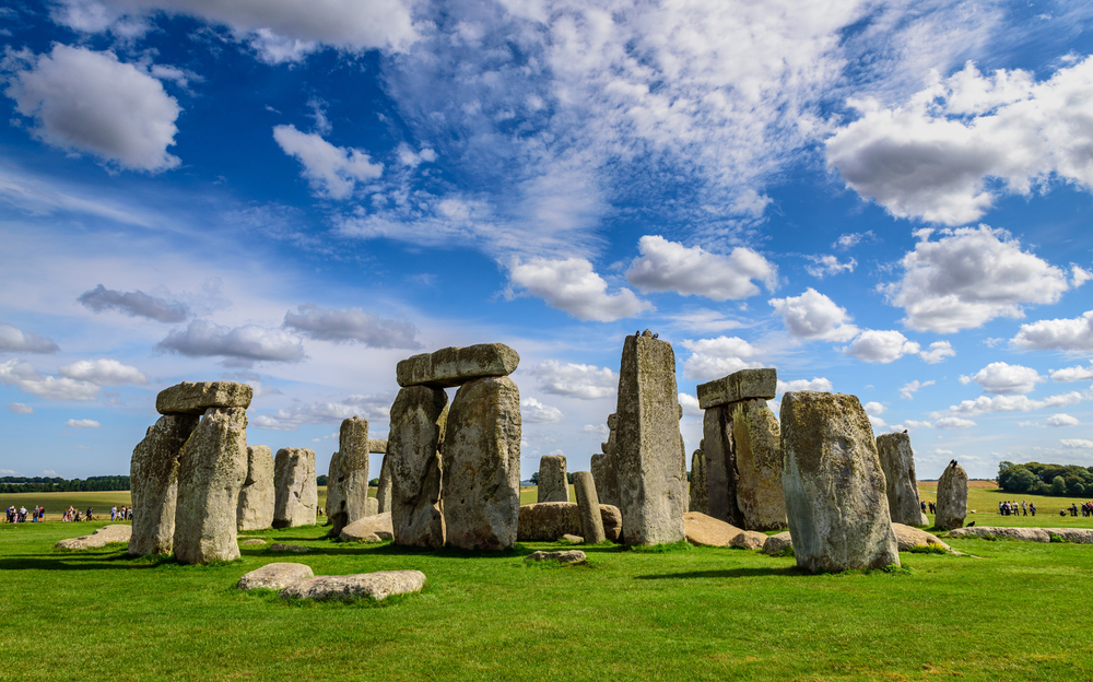 Stonehenge Wiltshire On A Bright Day