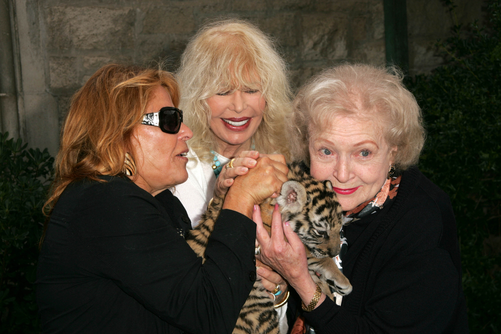 Betty White with Tiger
