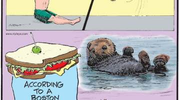 "1. In March 2018, Brandon Burns of Michigan performed a seated backflip - one of only two people in the world to accomplish this feat! 2. According to a Boston court ruling, a sandwich must include ""at least two slices of bread."" 3. With the world's thickest fur, sea otters have about 800 million hairs on their bodies!"