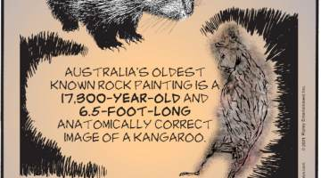 1. Baby porcupines are called porcupettes! 2. Australia's oldest known rock painting is a 17,300-year-old and 6.5-foot-long anatomically correct image of a kangaroo. 3. The Indian city of Delhi has its own tree ambulance manned by four arboreal experts to treat sick and dying trees.