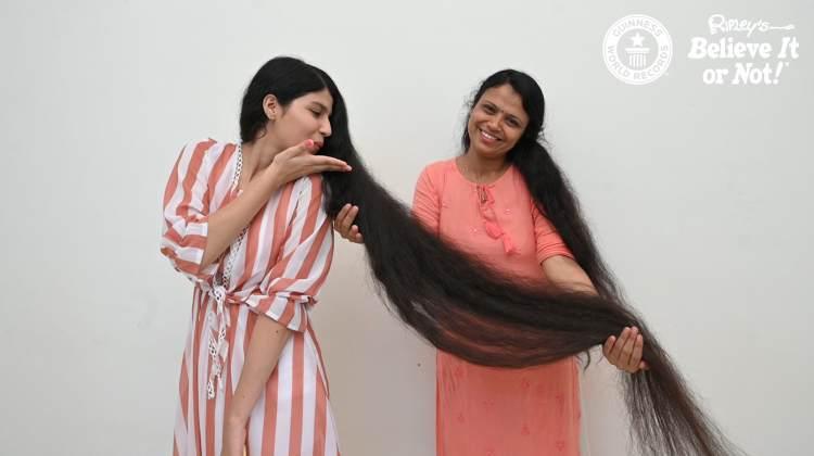Nilanshi Patel Longest Hair on a Teen