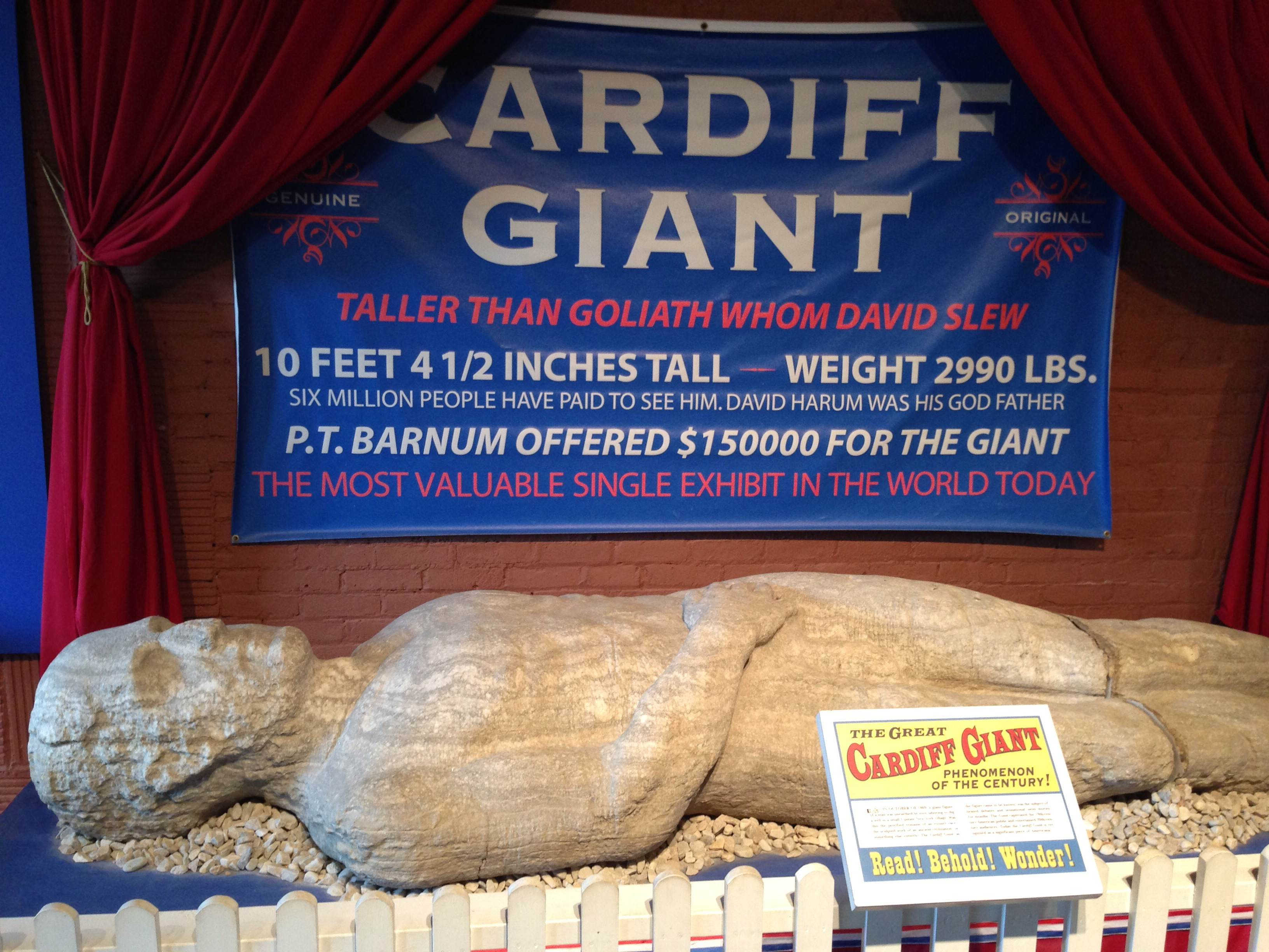 cardiff giant today