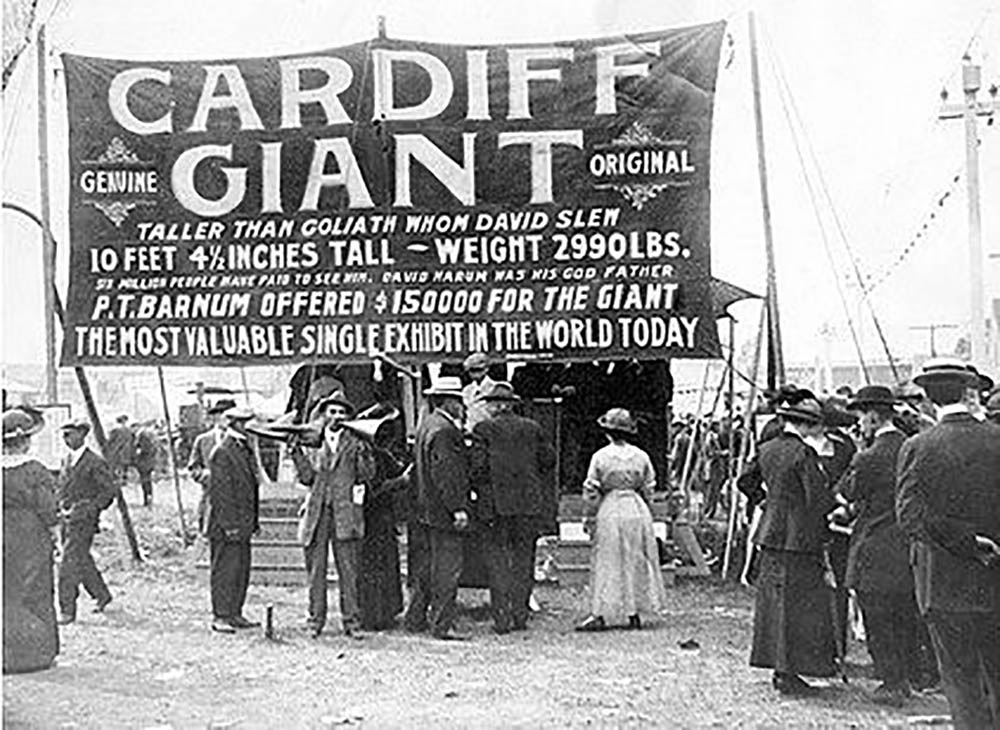 cardiff giant on show