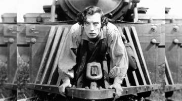 Buster Keaton on Train