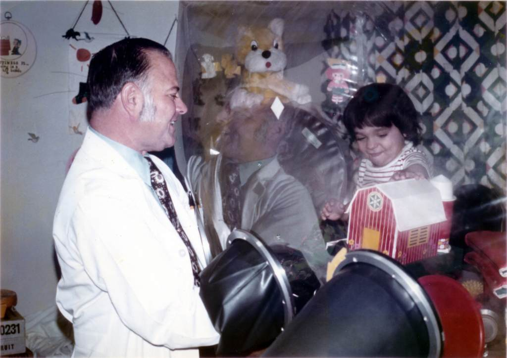 David Vetter and Doctor John R. Montgomery