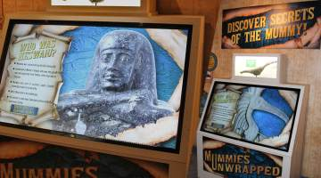 Interspectral Interactive Mummy Display