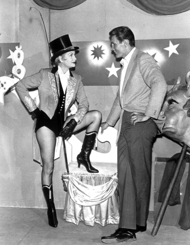 Lucille Ball and Jack Palance