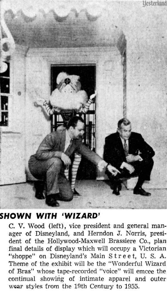 Publicity photo of the Wonderful Wizard of Bras with Executives