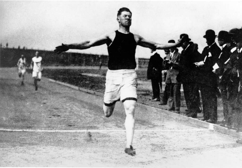 Jim Thorpe Running at 1912 Olympics