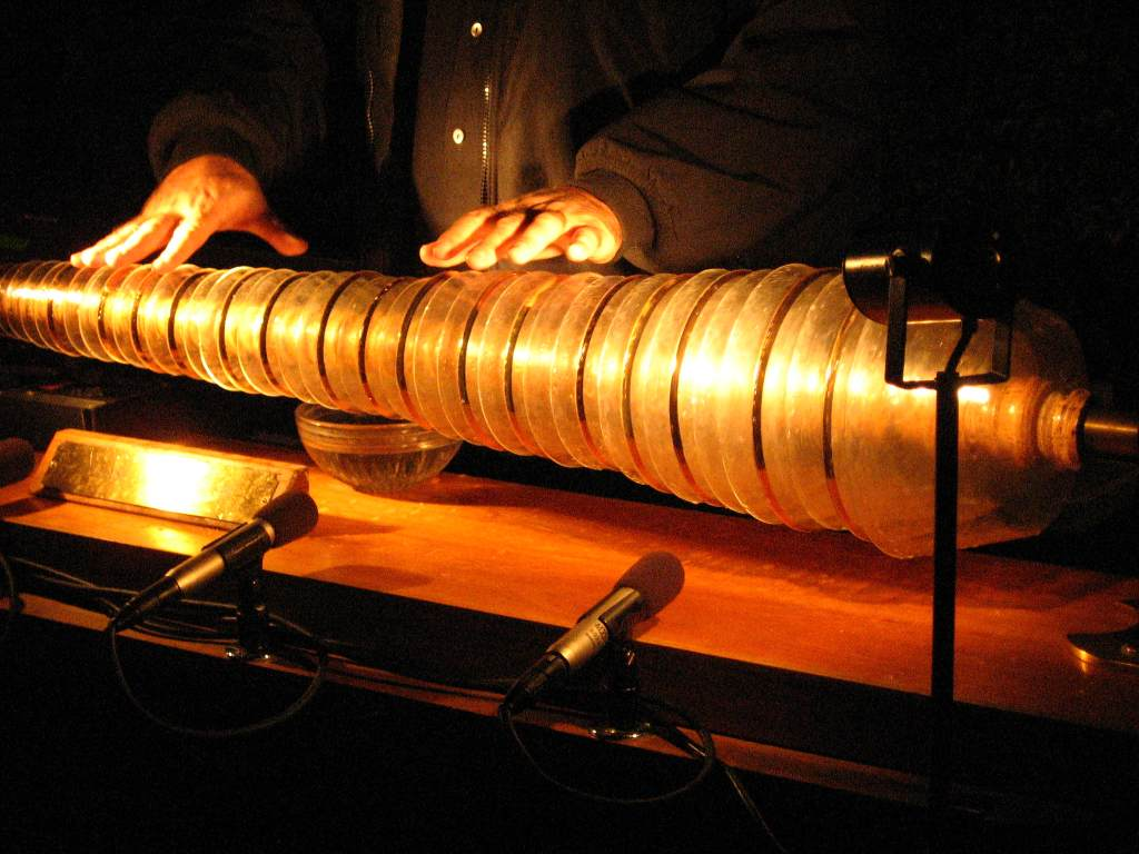 Playing the Glass Armonica