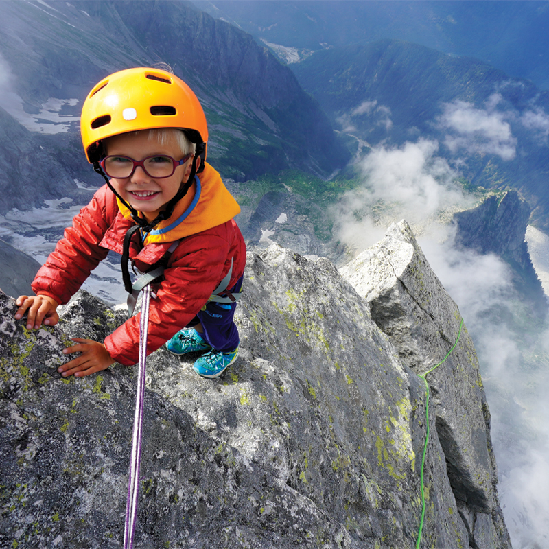 Out of the Box: Three-year-old mountain climber Jackson Houlding