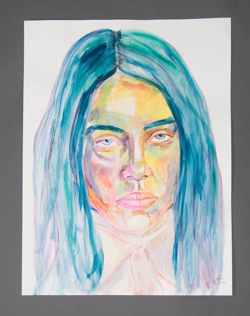 Billie Eilish Glass Painting