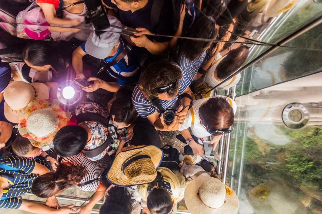 Bailong Elevator Tourists